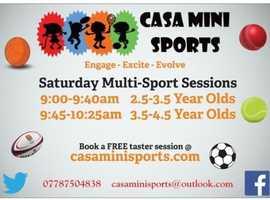 CASA Mini Sports Saturday Sessions - 2.5 - 4.5 Year Olds