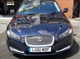 Jaguar XF, 2011 (61) Blue Saloon, Automatic Diesel, Facelift model
