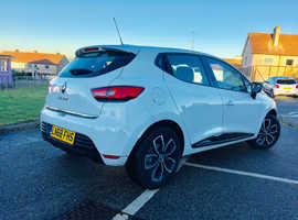 Renault Clio, 2018 (68) White Hatchback, Manual Petrol, 6,600 miles