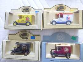 SET OF 4 ASSORTED DIE-CAST MODEL CARS;