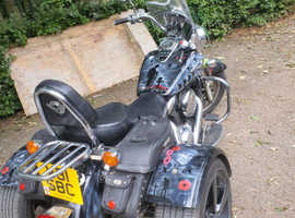 Kawasaki vulcan motorbike trike