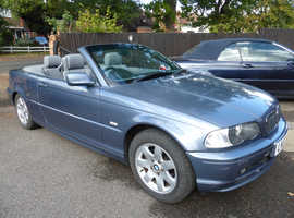 BMW 3 Series, 2003 (03) Blue Convertible, Manual Petrol, 84,000 miles