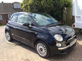 Fiat 500, 2009 (09) Black Hatchback, Manual Petrol, 80,091 miles