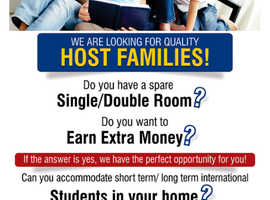 We needed Host Families for our students!