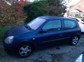Renault Clio, 2004, Blue Hatchback, Manual Petrol, 81,242 miles