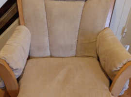 Nursery rocking chair & rocking footstool
