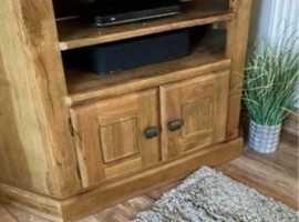 Weathered oak tv unit