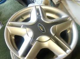 Fiesta, set of 4x alloy wheels.