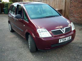 Vauxhall Meriva, 2004 (04) Red MPV, Manual Petrol, 72,350 miles