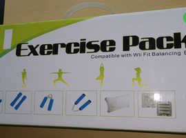 """""""New""""6 in 1 Exercise Pack Compatible Wii Fit Balancing Board """"Hours of fun"""""""