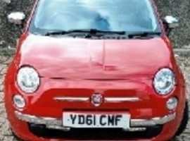 Fiat 500, 2011 (61), Manual Petrol, 88,025 miles