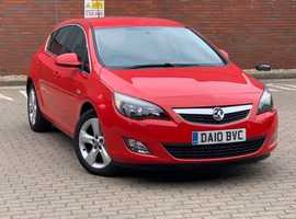 Vauxhall Astra, 2010 (10) Red Hatchback, 1.6L, Manual Petrol, 49,930 miles