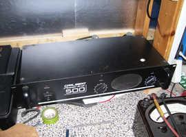 CARLSBORO 500 AMP & SPEAKERS