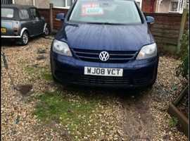 Volkswagen Golf Plus, 2008 (08) blue hatchback, Semi auto Diesel, 101,000 miles