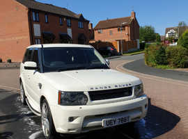 Land Rover Range Rover Sport, 2009 (59) White Estate, Automatic Diesel, 73,500 miles
