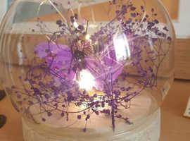 LED Purple Butterfly Orb