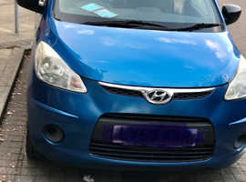 Hyundai i10, 2008 (58) Blue Hatchback, Manual Petrol, 52,800 miles