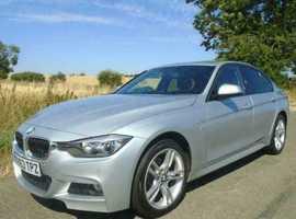 BMW 3 Series, 2013 (63) Silver Saloon, Manual Diesel, 126,000 miles