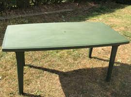 Green garden table