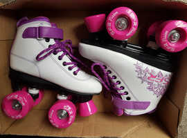Quad Roller Skates (Purple) Nearly New!