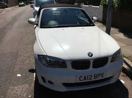 BMW 1 series, 2012 (12) White Convertible, Manual Diesel, 85,410 miles
