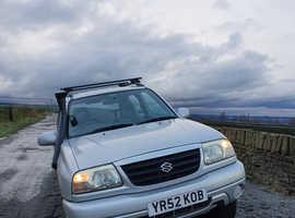 Suzuki Grand Vitara, 2002 (52) Silver Estate, Manual Petrol, 63,000 miles
