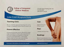 Acupuncture - Low cost Acupuncture at the College of Integrated Chinese Medicine