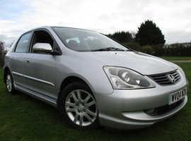 Honda Civic, 2004 (04) Silver Hatchback, Automatic Petrol, 82,378 miles