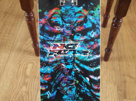 No Fear skeleton skateboard