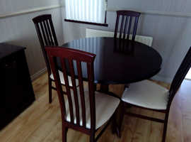 Nearly new Table and 4 chairs. To good to miss