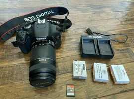 Canon EOS Rebel T3i 18.0MP Digital SLR Camera & 55-250MM Lens