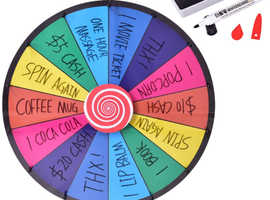 COSTWAY 24 Color Prize Wheel Dry Erase Fortune Spinning Tabletop Floor Stand Win Roulette Game TY570689