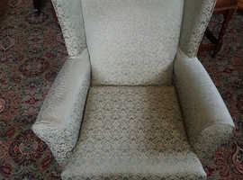 Wing Back Chair Queen Anne Style