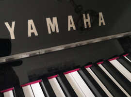 Yamaha Upright Piano YA  P serie black polished as new, 2014 , silver, piano stool