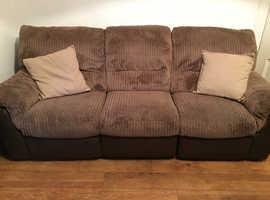 3 seater cord sofa