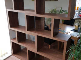 Home shelving unit - two piece