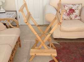 FREE -Ex  Beauty Salon Chair, Needs Canvas Seat/Back. In good condition.