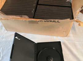 48 x Blank DVD / CD /Blu-Ray Media Cases / Sleeves / Wallets, Black, Unused