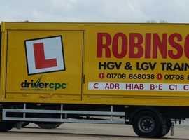 Robinson HGV / LGV Training Services in Essex & Kent