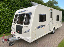 Bailey Pegasus 534 2010 4 Berth Caravan with Fixed Bed and Motor Movers