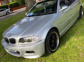 BMW 3 Series, 2003 (52) Silver Convertible, Manual Petrol, 130,000 miles