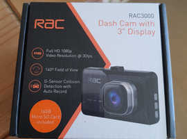 RAC 3000 Dashcam with built in Collision detection (Brand New)
