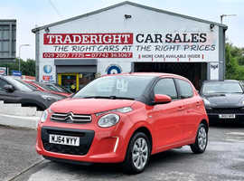 2014/64 Citroen C1 1.0 Feel finished in Coral Red. 36,098 miles