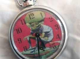 Mekon  martian pocket  watch from dan dare comics