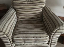 armchair brown and beige striped free for collection