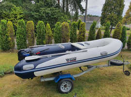 Wetline 350 Rib with 2010 Tohatsu 9.8 4 Stroke Outboard and Trailer