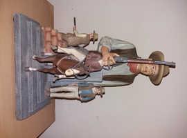 John Wayne Statuette By the Bradford exchange