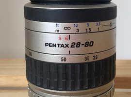 PENTAX 28-80MM F3.5-5.6 ZOOM LENS.