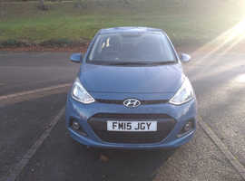 Hyundai i10, 2015 (15) Blue Hatchback, Manual Petrol, 15,124 miles