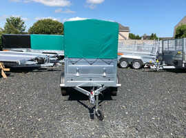 BRAND NEW MODEL 5x4 SINGLE AXLE DOUBLE BROADSIDE TRAILER WITH 50CM FRAME AND COVER 750KG